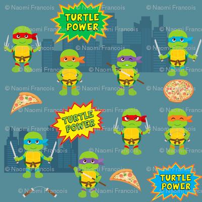 Pizza Loving Turtles