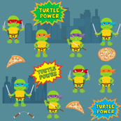 Pizza Loving Turtles