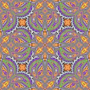 Fractal Ruffles and leaves, Orange