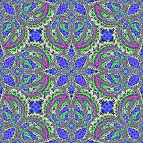 Fractal Ruffles and Leaves, Royal