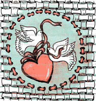 zentangle love doves