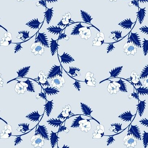 Chinoiserie Pale Blue Vine Flowers