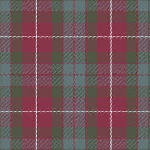 Fraser red weathered tartan