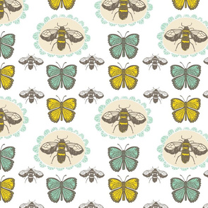 Bee and Butterfly Pattern 2