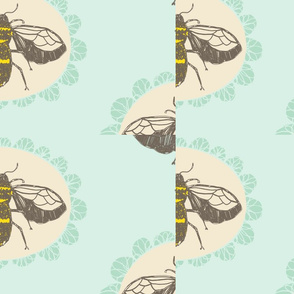 Bee and Butterfly Garden Pattern 1