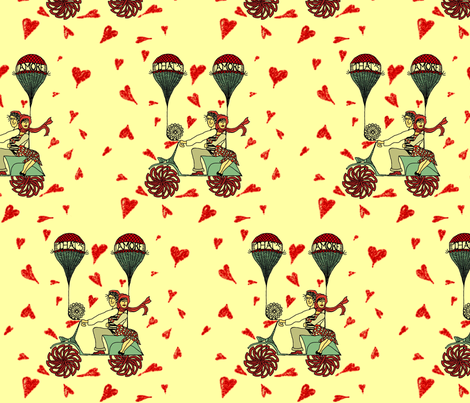 That's Amore (color) fabric by gabmana on Spoonflower - custom fabric