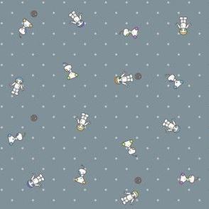 Ditsy Space Robots Dark