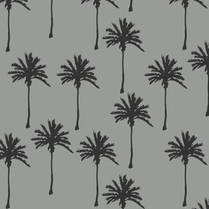 Palm Trees on Gray Lighter