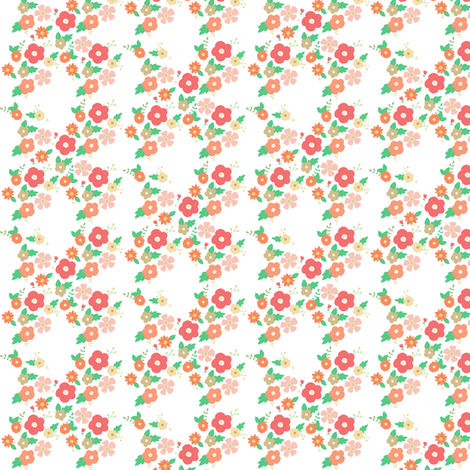 Summer posies fabric by mintpeony on Spoonflower - custom fabric