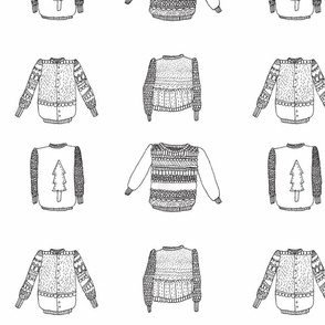 assorments of sweaters