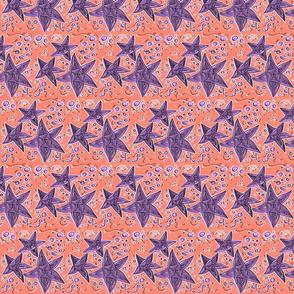 Coral & Purple Stars