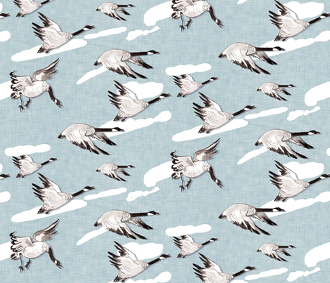 Flying South fabric by nouveau_bohemian on Spoonflower - custom fabric
