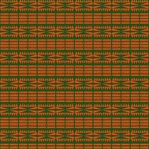 Tribal Headbands Orange Green