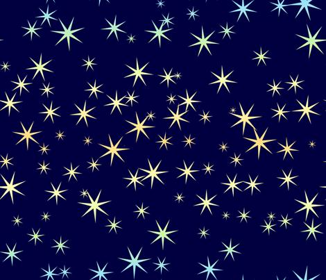 Seven-point Rainbow Stars 1 fabric by hitodama on Spoonflower - custom fabric