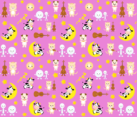 Hey Diddle Diddle fabric by collide_prints on Spoonflower - custom fabric