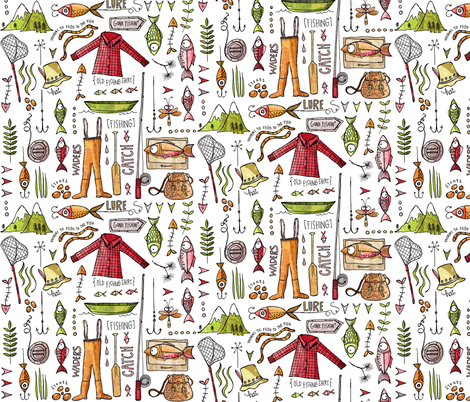 Mountain catch fabric by mulberry_tree on Spoonflower - custom fabric