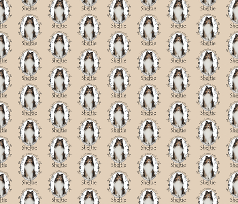 Life's Better with a Sheltie fabric by pateisen on Spoonflower - custom fabric