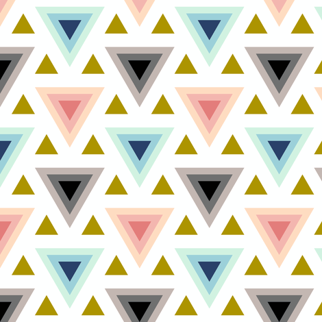 trendy triangles fabric by sef on Spoonflower - custom fabric