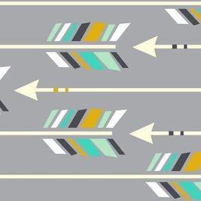 Large Arrows: Horizontal Rainshine