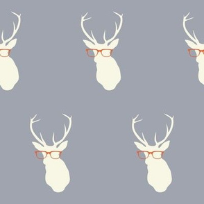 Smarty Pants Deer, Gray & Orange