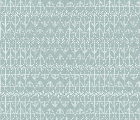 Birds Green Pastel fabric by alexandraboman on Spoonflower - custom fabric