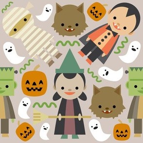 Halloween Fun Brown Background