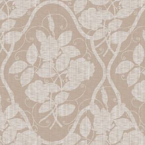 Victorian Rose Ogee ~ Linen on  Linen Luxe