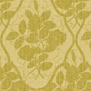 Victorian Rose Ogee ~ Linen on Trianon Cream Linen Luxe