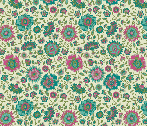 Flowery fabric by zoë_linn_anderson on Spoonflower - custom fabric