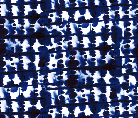 Parallel Blue Indigo fabric by mjmstudio on Spoonflower - custom fabric
