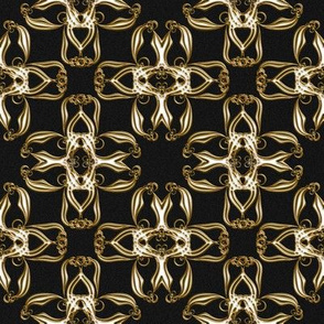 Fake Gold Cross Ribbons