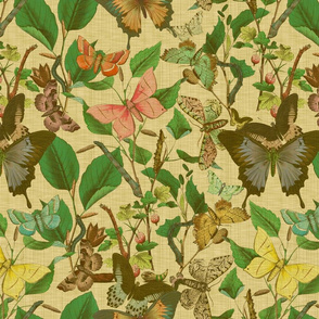 Butterfly Sanctuary ~ Trianon Cream Linen Luxe