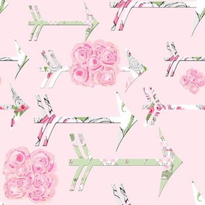 Shabby Chic Roses and Arrows