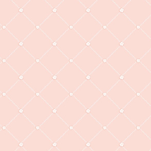 Blush and White Lattice