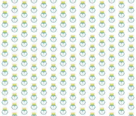 Owl King fabric by mintparcel on Spoonflower - custom fabric