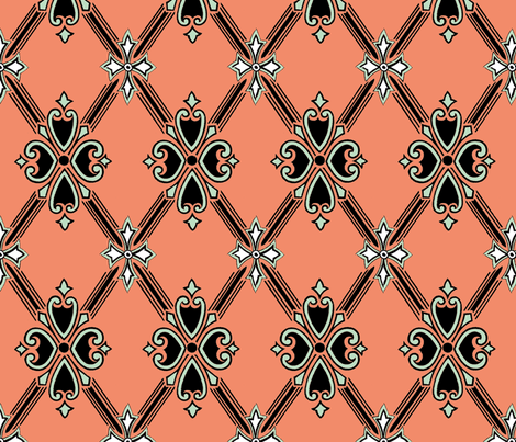 Coral Shield fabric by elarnia on Spoonflower - custom fabric