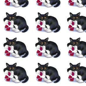 Tuxedo_Kitten_Plays_with_Catnip_Hearts_-_Spoonflower