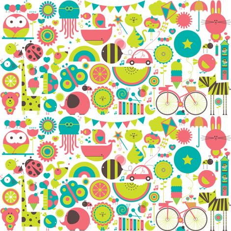 Dream Big, Little Girl fabric by simplefuzzies on Spoonflower - custom fabric