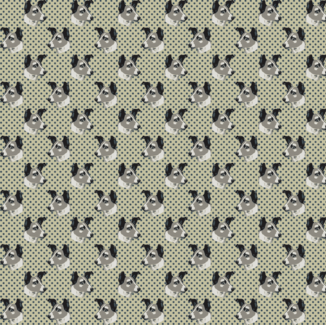 laika_on_dots fabric by susiprint on Spoonflower - custom fabric