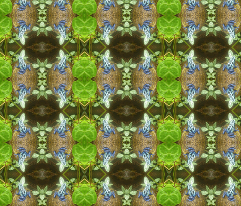 Frog in blue fabric by kjs_mom on Spoonflower - custom fabric