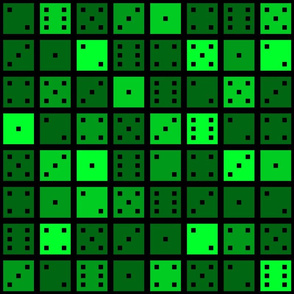 Green Pixel Dice