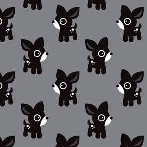 Cute gray black and white kids deer illustration fun scandinavian trend pattern in pastel colors