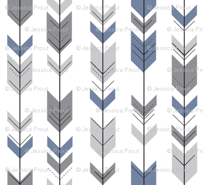 Fletching Arrows // Grey/Blue - Wild Lake collection