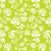 ditsy floral green apple