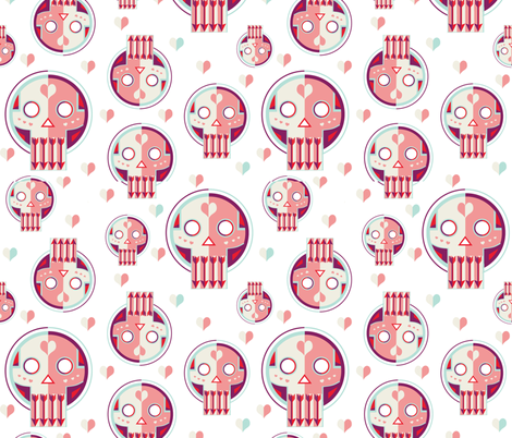 Love is on the Mind fabric by clairekalinadesigns on Spoonflower - custom fabric