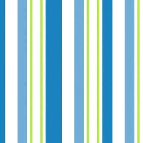 Mackinac Stripes Blue Green And White