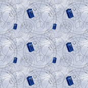 Police Box Geometric Grey