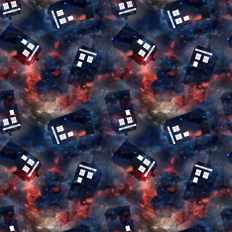 Disappearing Police Box fabric by costumewrangler on Spoonflower - custom fabric
