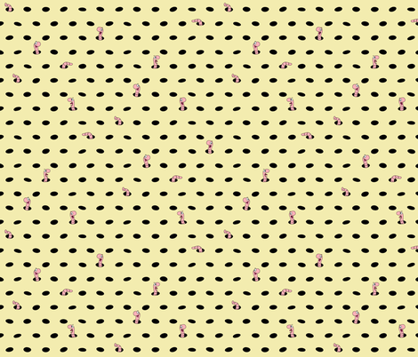 """polka dots 'n' worms! 4 fabric by dave_""""squid""""_cohen on Spoonflower - custom fabric"""