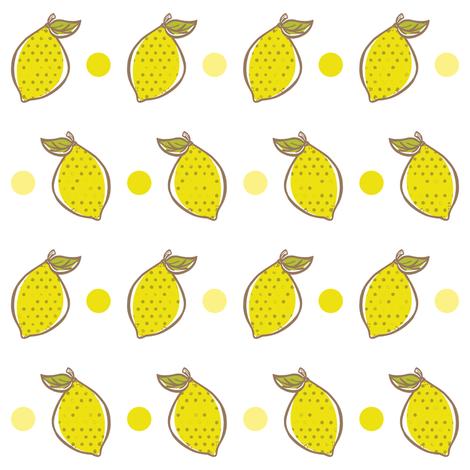 Zesty Lemons fabric by simplefuzzies on Spoonflower - custom fabric